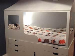Lit Meuble Ikea : 2 en 1 lit cabane enfant rangements ~ Premium-room.com Idées de Décoration