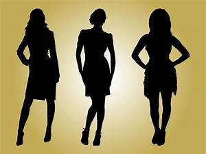 Fashion Models Silhouettes Vector Art & Graphics ...