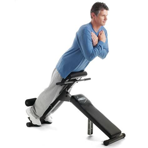 The Foldaway  Ee  Abdominal Ee   And Back Exercise  Ee  Bench Ee   Hammacher
