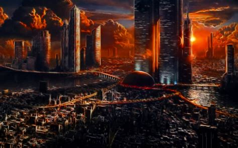 apocalyptic city hd wallpaper background image