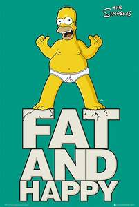 Homer Simpson Fat And Happy POSTER 60x90cm NEW * The ...