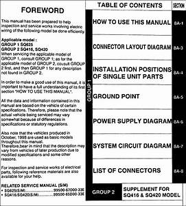 1999 Suzuki Vitara  U0026 Grand Vitara Wiring Diagram Original