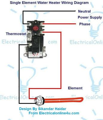 Electric Water Heater Wiring With Diagram Electrical