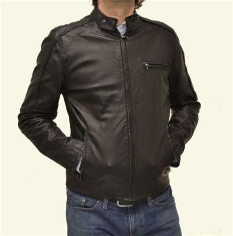 new men biker leather jacket men fashion motorcycle black