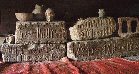 fileancient blocks  sabaean inscriptions yeha