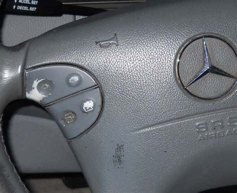 mercedes interior trim buttons switches fading