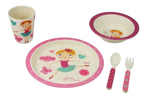 dinnerware bamboo ballerina piece studio ware toddlers tumbler ecobamboo kid babies korner pink paperlesskitchen