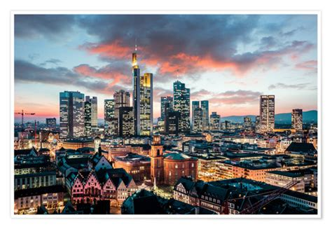 euregiophoto frankfurt skyline poster  bestellen