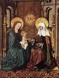 File:Master Of The Housebook - Virgin and Child with St ...
