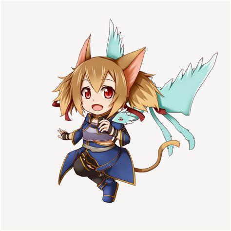 chibi character sword art