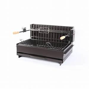 Barbecue Gaz Et Charbon : grilloir charbon de bois tardets 61x33cm en acier et inox ~ Dailycaller-alerts.com Idées de Décoration