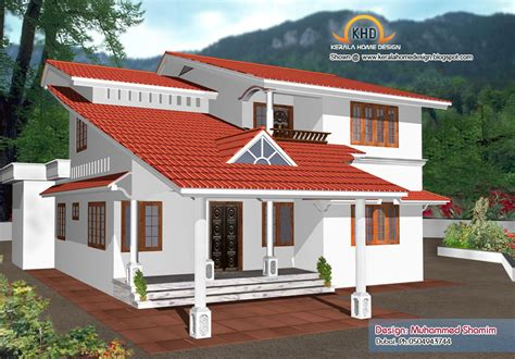 5 Beautiful Home Elevation Designs In 3d  Kerala Home