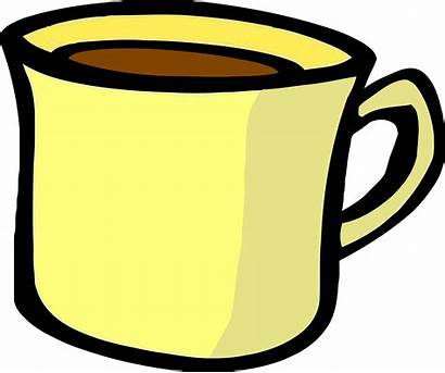Mug Clipart Cup Coffee Yellow Animated Clip