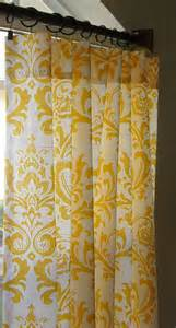 Gold Damask Shower Curtain by Damask Curtains Custom Drapes Panels Yellow And By Sewpanache 135 00 Home Pinterest