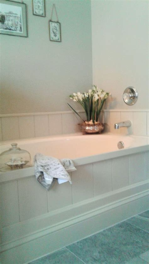 tub surround diy tub surround using peel and stick vinyl planks to