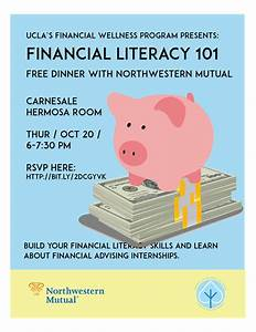 Financial Literacy Workshop & Dinner on October 20th, 6-7 ...