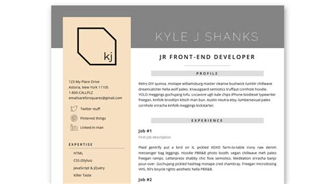 Resume Html Template by 14 Html Resume Templates