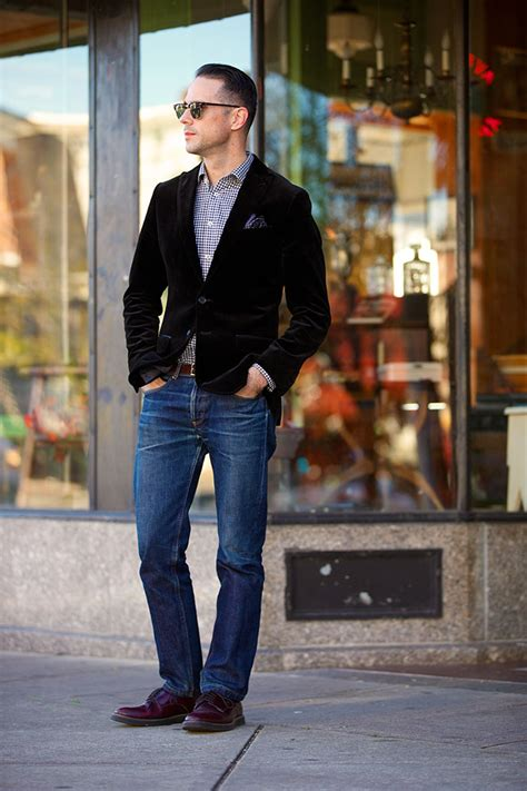 The Velvet Blazer Around Town - He Spoke Style