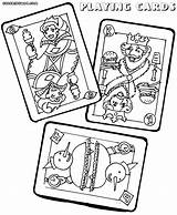 Coloring Cards Playing Pages Poker Print Colorings Playingcards Jawar sketch template