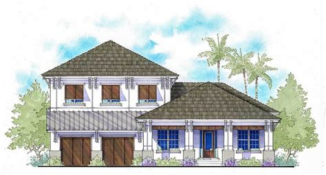 story west indies style house plan   master