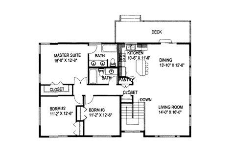 huntersville split level home plan   house plans