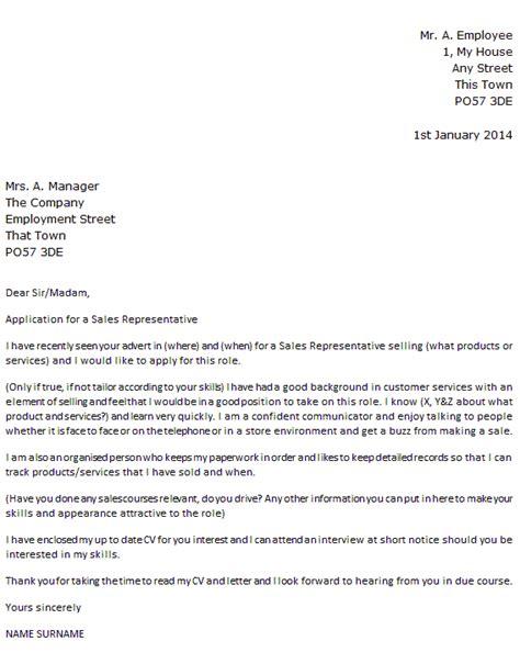 sales representative job application cover letter  icoverorguk