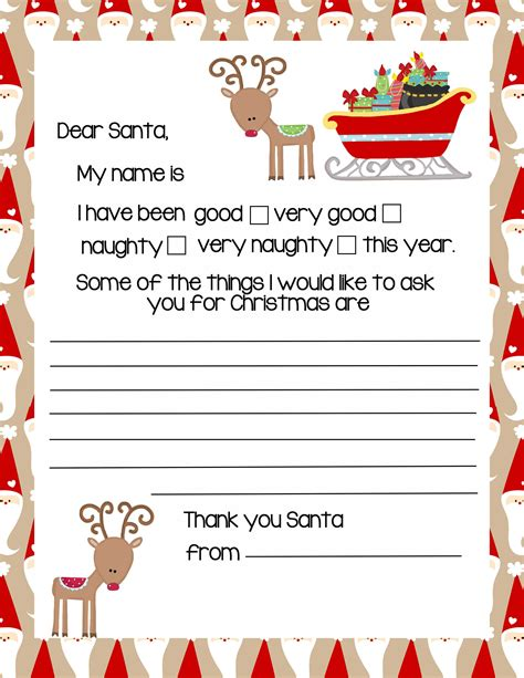 modele lettre pere noel 20 letters to santa and printable envelopes
