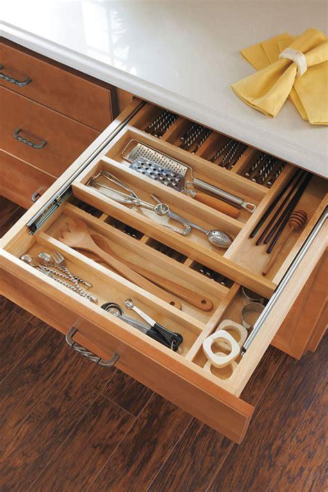 drawer inserts for kitchen cabinets cutlery organizer insert homecrest cabinetry 8825