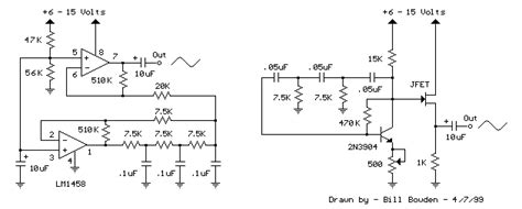 Low Frequency Sinewave Generators Electronic Circuit