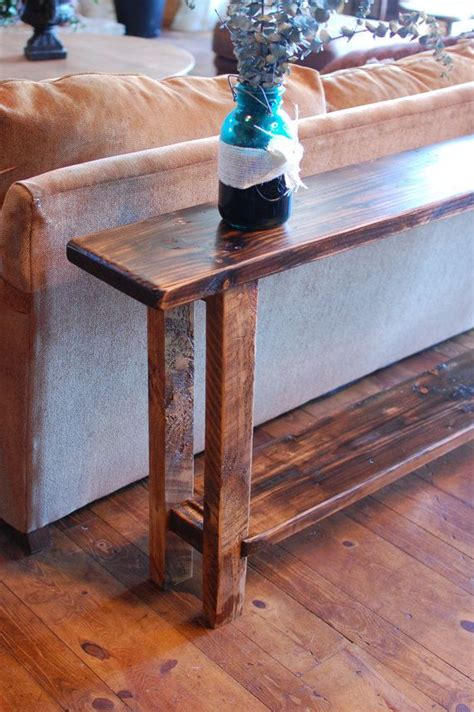 narrow sofa table diy 25 best ideas about reclaimed wood tables on