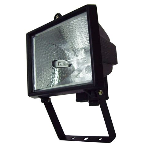 brilliant 500w black ascot halogen flood light ebay