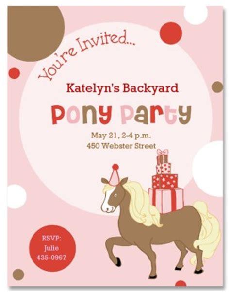 printable pony party invitation template