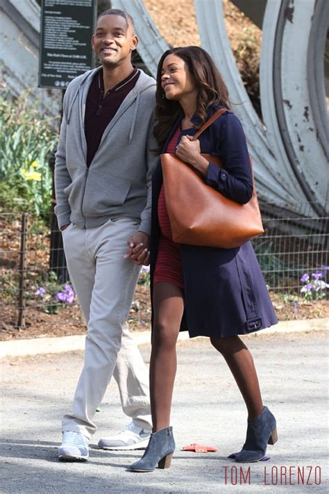 naomie harris will smith movie will smith and naomie harris on the set of quot collateral