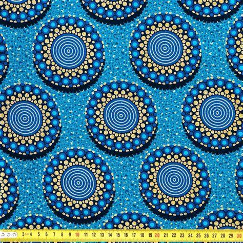 ateliers cuisine wax tissu africain bleu motif rond pailleté pas cher