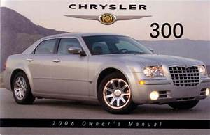 2006 Chrysler 300 Owners Manual User Guide Reference