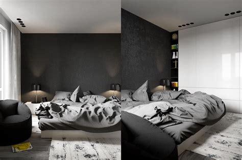chambre adulte noir déco chambre à coucher adulte en tons foncés actuelle et