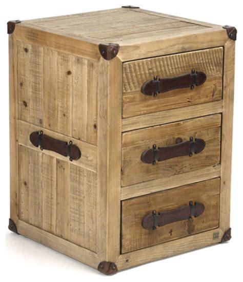 rustic wood nightstand hudson rustic lodge solid chunky wood 3 drawer