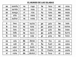 Las Silabas En Espanol Para Ninos silabas en espanol
