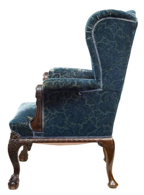 Early Victorian Carved Mahogany Wingback Armchair At 1stdibs. How To Design A Closet. Honed Marble. Wesley Allen Iron Beds. Mirrored Walls. Light Blue Bedroom Ideas. Modern Leather Sectional. Exotic Beds. Granite Sinks
