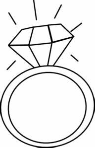 Engagement Ring Clipart Black And White | Clipart Panda ...