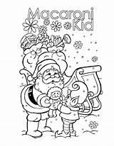 Macaroni Coloring Kid Elbow Pasta Santa Dunwoody Macaroons Printable sketch template