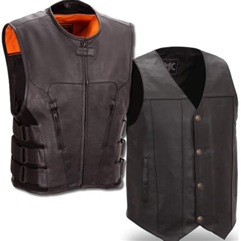 motorcycle vest men 39 s leather motorcycle vests