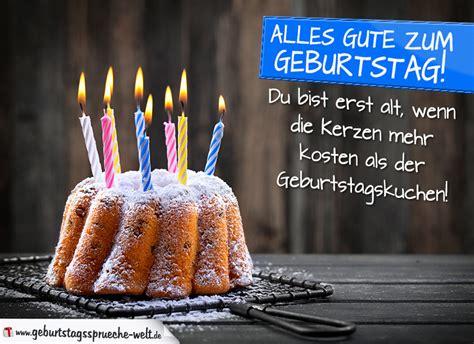 Geburtstagssprüche Mit Kuchen Und Kerzen