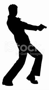 Disco Man With Gun Silhouette Stock Vector - FreeImages.com