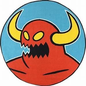 Skate Deckor Toy Machine Logo Round Rug 100cm x 100cm ...