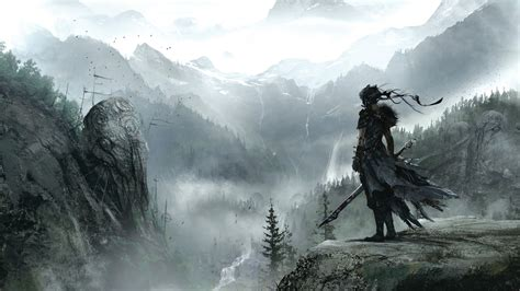 wallpaper hellblade  games fantasy pc ps game
