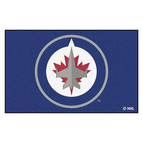 FANMATS NHL Winnipeg Jets Navy 5 ft. x 8 ft. Area Rug