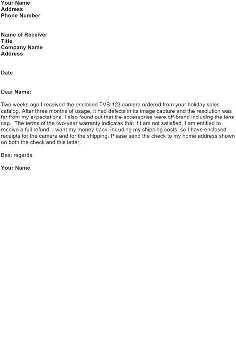 Refund Letter Sample - Download FREE Business Letter