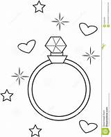 Coloring Ring Diamond Useful Illustration Template sketch template