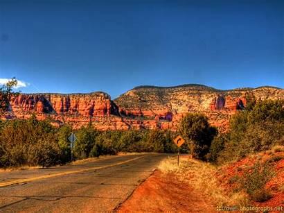 Sedona Places Usa Arizona Rock Canyon Hdr